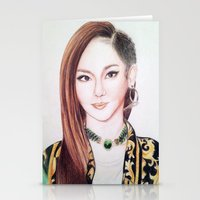 2ne1 Stationery Cards featuring Sandara Park (Dara - 2NE1) by Hileeery