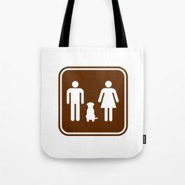 "Urban Picotgrams ""Dog Family"" Tote Bag"