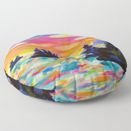 Landscape With Saucers Floor Pillow