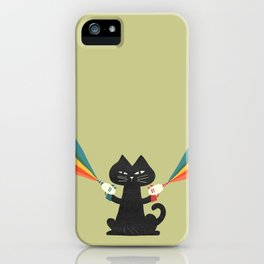 Ray gun cat iPhone Case