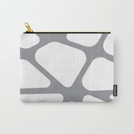 Unique gray and white organic design Carry-All Pouch