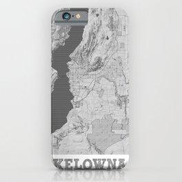 Kelowna Pencil City Map iPhone Case