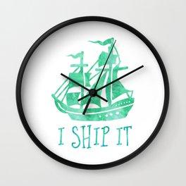 I Ship It - Watercolour Wall Clock