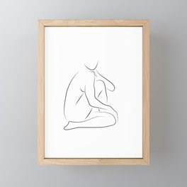 Desire - Nude Line Art Framed Mini Art Print