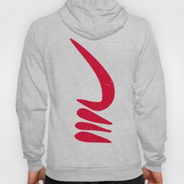 The AKOBEN | West African War Horn in Warrior Red Hoody