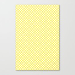 Yellow Lemon Fruit Slices Pattern Canvas Print