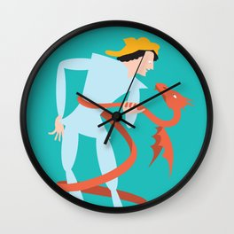 Dragonboy, green Wall Clock