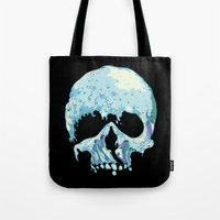 silent Tote Bags featuring Silent Wave by Huebucket