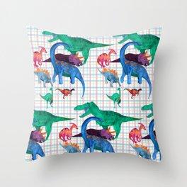 Triassic Plaid Throw Pillow