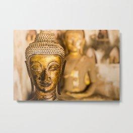 Wat Si Saket Buddhas XII, Vientiane, Laos Metal Print
