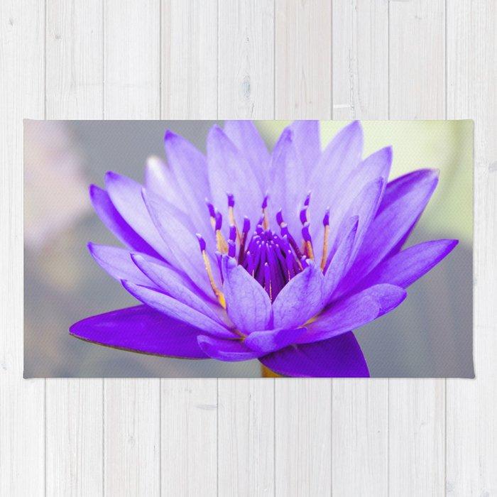 Blue Lotus In Bloom Rug
