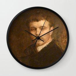 Jules Bastien-Lepage - Portrait de l'artiste Wall Clock