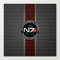 n7 Canvas Prints featuring N7 by aleha