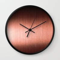 copper Wall Clocks featuring Copper by Robin Curtiss
