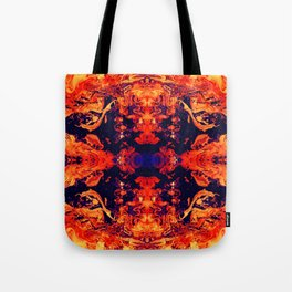 HARD RAYS Red Lava Tote Bag