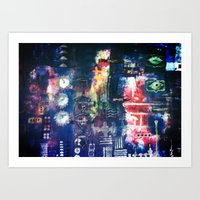 industrial Art Prints featuring industrial by Hamster&hearts