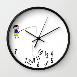 Chuck's Children's Clock Wall Clock