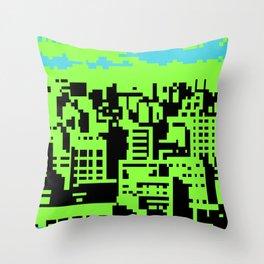 cityscape 07A (C64 remix) (2011) Throw Pillow