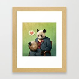 Wise Panda: Love Makes the World Go Around! Framed Art Print