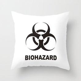 biohazard sign Throw Pillow