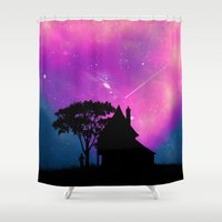 alone Shower Curtains featuring Alone by Fathi