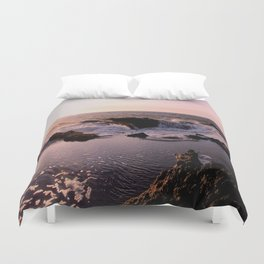 Thor's Well at Sunset Duvet Cover