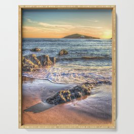 Sunset over Burgh Island from Bantham Serving Tray