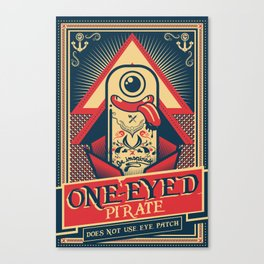 One-eyed Pirate Canvas Print