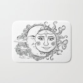 Sun and Moon Bath Mat