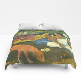 Arearea by Paul Gauguin Comforters