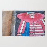 war Area & Throw Rugs featuring war by helendeer