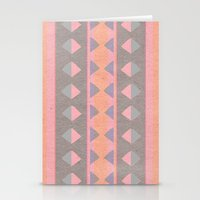 montana Stationery Cards featuring Montana Weave by The Velvet Owl Design Studio