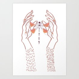 Libelula Art Print