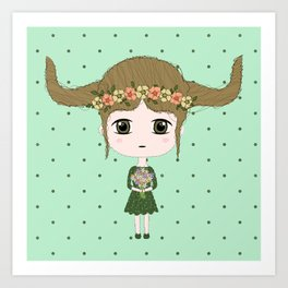 Taurus Girl Art Print
