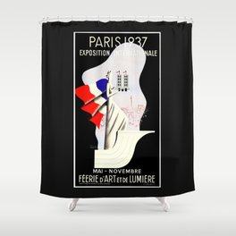 Paris Expo 1937 Art and Light Shower Curtain
