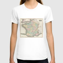 Vintage Map of France (1814) T-shirt