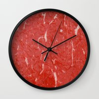 nietzsche Wall Clocks featuring Carnivore by pixel404