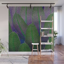 Lobelia leaves Wall Mural