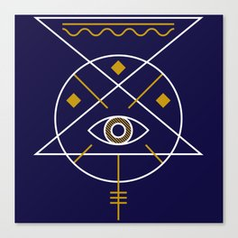 Sacred Geometry All Knowing Eye Cool Abstract Design Canvas Print