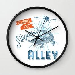 Alligator Alley Swamp Sanctuary Florida Wall Clock