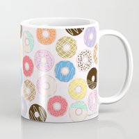 nutella Mugs featuring Donuts by Alexandra Aguilar