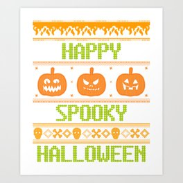 Happy Spookie Halloween Art Print