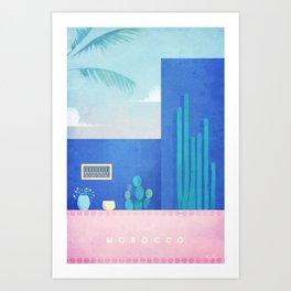 Morocco / Cactus Art Print