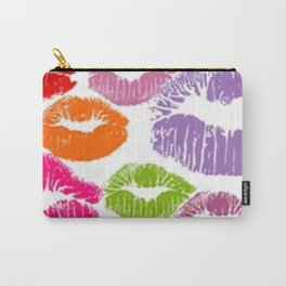Colorful Lipstick Kisses Lip Color Carry-All Pouch