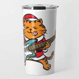 Guitar Player Cat Metal Fan Funny Christmas Gift Travel Mug