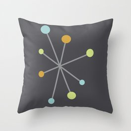 Mid Century Modern Atomic Age Pattern Throw Pillow