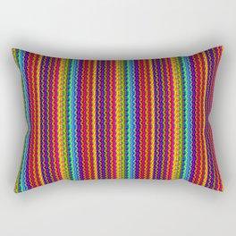 Ultra Bright Pattern Textured Lines Rectangular Pillow