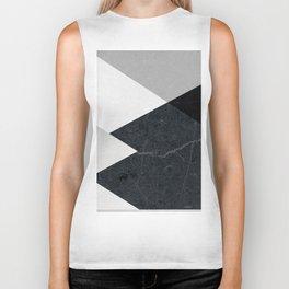 Geometrics - marble & silver Biker Tank