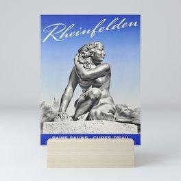 affiche rheinfelden bains salins cures deau Mini Art Print