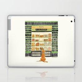 Hungry dog at Paul Boulangerie, Paris Laptop & iPad Skin